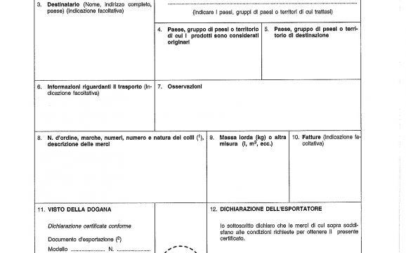 Novità Emissione EUR 1, EUR MED e ATR